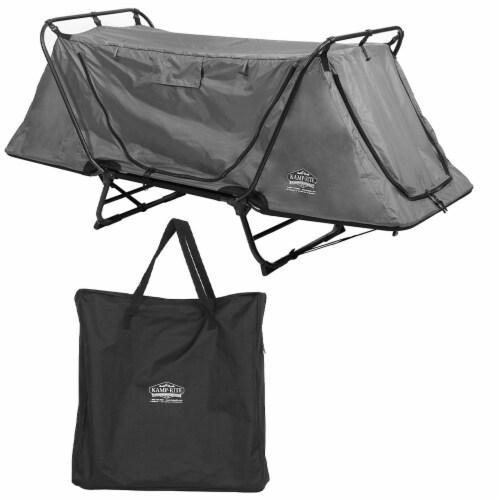 Kamp-Rite Original 1 Person Tent Cot Folding Bed Bundle w/ Valuables Storage Bag Perspective: front