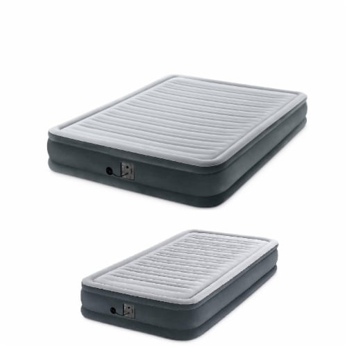 Intex Dura Beam Plus Series Mid Rise Queen & Twin Air Bed w/ Built In Pump Perspective: front