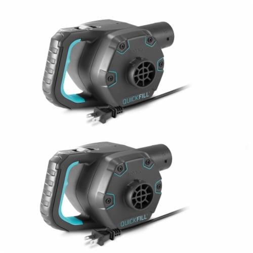 Intex Quick Fill 120 Volt AC Electric 38.9 CFM Inflatable Pump (2 Pack) Perspective: front