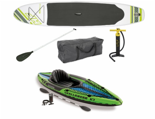 Bestway Hydro Force Wave Stand Up Paddle Board & 1-Person Sporty Kayak Perspective: front