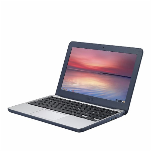 ASUS 11.6-inch Chromebook Laptop with 180 Degree Hinge (Certified Refurbished) Perspective: front
