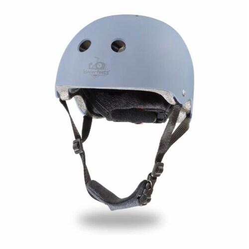 Kinderfeets Adjustable Kids Helmet Bundle with Balance Bike Tricycle, Slate Blue Perspective: front
