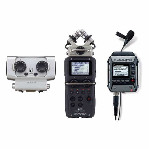 Zoom H5 Digital Audio Recorder Set with F1 Microphone and EXH6 Input Capsule Perspective: front