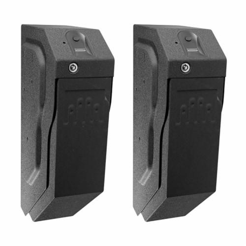 GunVault SpeedVault Series Quick Access Biometric Handgun Safe, Black (2 Pack) Perspective: front