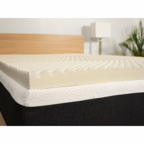 I Love Pillow 2.50 In Copper Gel Memory Foam Mattress Topper Pad, Twin (2 Pack) Perspective: front