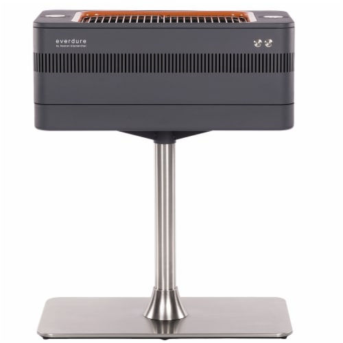 Everdure by Heston Blumenthal FUSION 29 Inch Pedestal Charcoal Grill/Rotisserie Perspective: front
