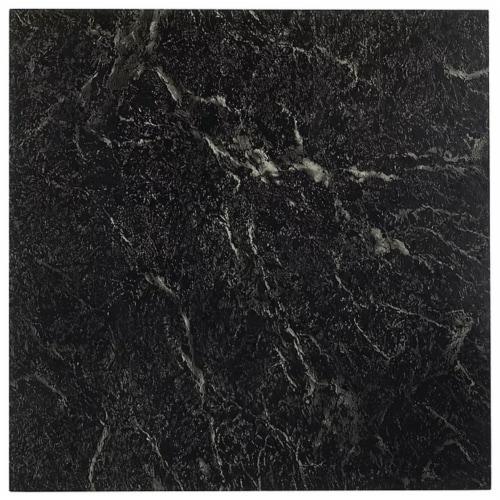 Achim Home Furnishings Nexus Peel & Stick Vinyl Floor Tile, Black Marble, 60Pk Perspective: front