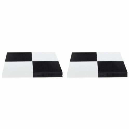 Achim Home Furnishings Nexus Peel & Stick Vinyl Floor Tile, Black Checker, 40Pk Perspective: front
