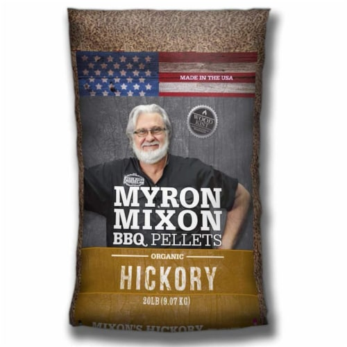 Myron Mixon Smokers Wood BBQ Pellets for Smoking & Grilling, Hickory (2 Pack) Perspective: front