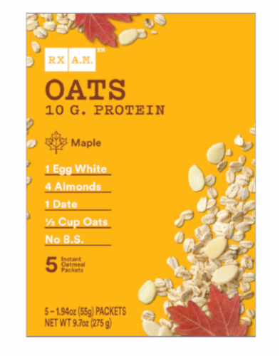 RX A.M. Oats Maple Oatmeal Packets Perspective: front