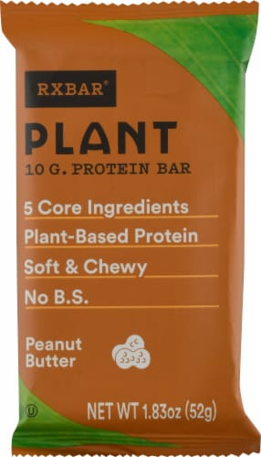 RXBAR Peanut Butter Plant Protein Bar Perspective: front