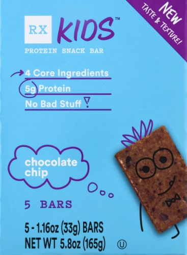RXBAR Kids Chocolate Chip Protein Snack Bars Perspective: front