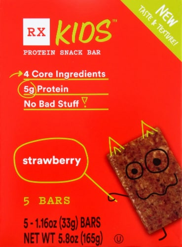 RXBAR Kids Strawberry Protein Snack Bars Perspective: front