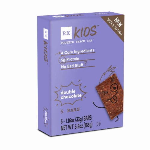 RX Kids Double Chocolate Protein Snack Bars Perspective: front