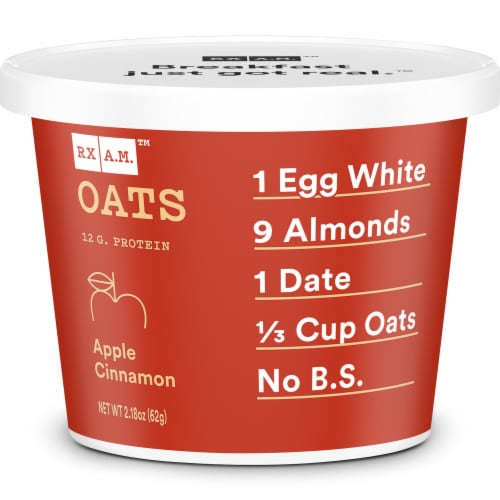 RX A.M. Oats Apple Cinnamon Oat Cup Perspective: front