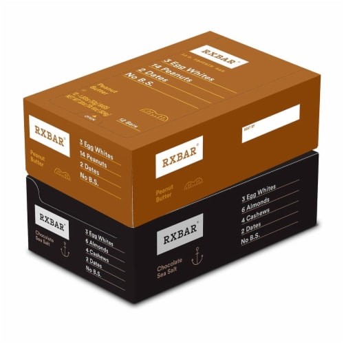 RXBAR Chocolate Sea Salt + Peanut Butter Variety Pack 24 Count Perspective: front