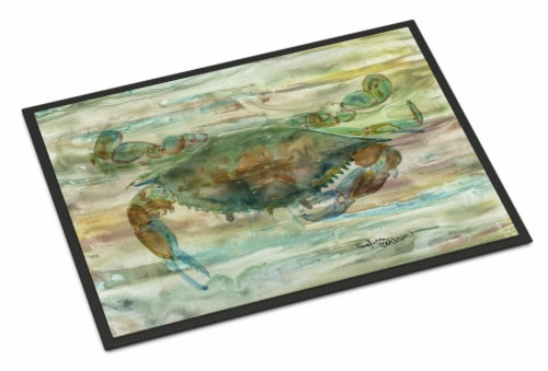 Carolines Treasures  SC2015MAT Crab a leg up Sunset Indoor or Outdoor Mat 18x27 Perspective: front