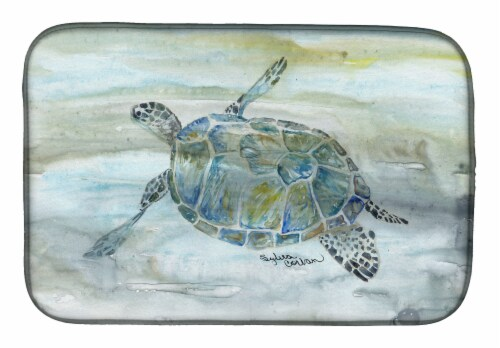 Carolines Treasures  SC2006DDM Sea Turtle Watercolor Dish Drying Mat Perspective: front