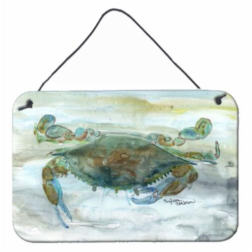 Carolines Treasures  SC2002DS812 Crab a leg up Watercolor Wall or Door Hanging P Perspective: front