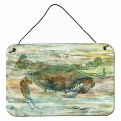Carolines Treasures  SC2015DS812 Crab a leg up Sunset Wall or Door Hanging Print Perspective: front