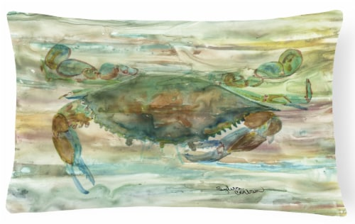 Crab a leg up Sunset Canvas Fabric Decorative Pillow Perspective: front