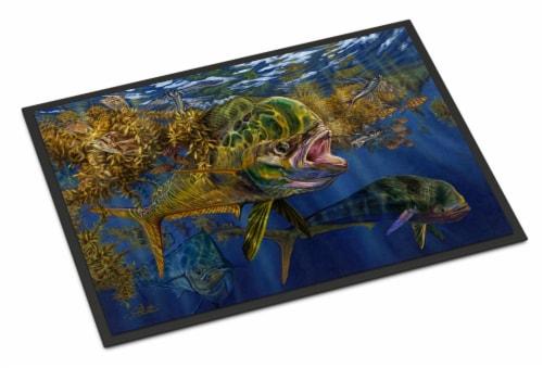 Carolines Treasures  JMA2013JMAT Seaweed Salad Mahi Indoor or Outdoor Mat 24x36 Perspective: front