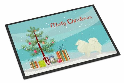 Carolines Treasures  CK3565MAT Spitz Christmas Tree Indoor or Outdoor Mat 18x27 Perspective: front