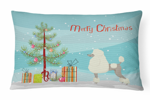 Carolines Treasures  CK3556PW1216 Poodle Christmas Tree Canvas Fabric Decorative Perspective: front