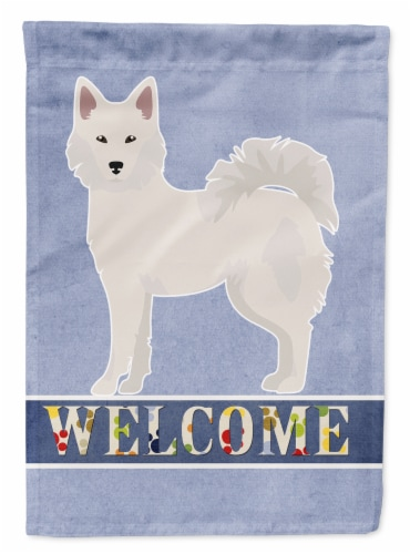 Carolines Treasures  CK3642CHF Danish Spitz Welcome Flag Canvas House Size Perspective: front