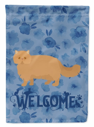 Carolines Treasures  CK4944CHF Persian Modern Cat Welcome Flag Canvas House Size Perspective: front