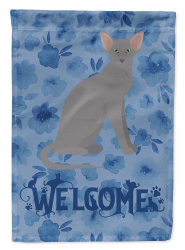 Carolines Treasures  CK5049CHF Oriental Shorthair Cat Welcome Flag Canvas House Perspective: front