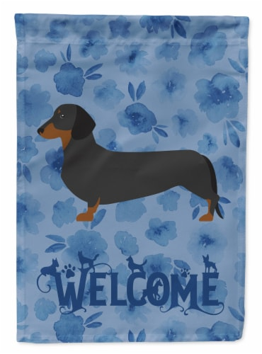 Carolines Treasures  CK6109CHF Dachshund Welcome Flag Canvas House Size Perspective: front