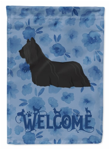 Carolines Treasures  CK6268CHF Skye Terrier Welcome Flag Canvas House Size Perspective: front