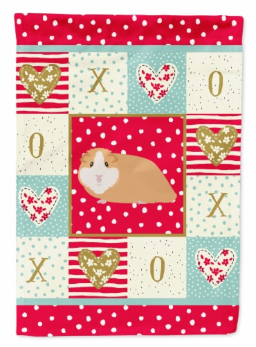 Carolines Treasures  CK5427CHF American Guinea Pig Love Flag Canvas House Size Perspective: front