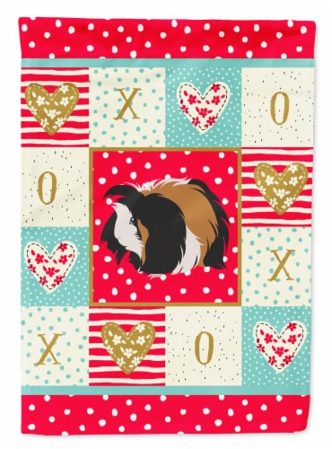 Carolines Treasures  CK5433CHF Sheba Guinea Pig Love Flag Canvas House Size Perspective: front