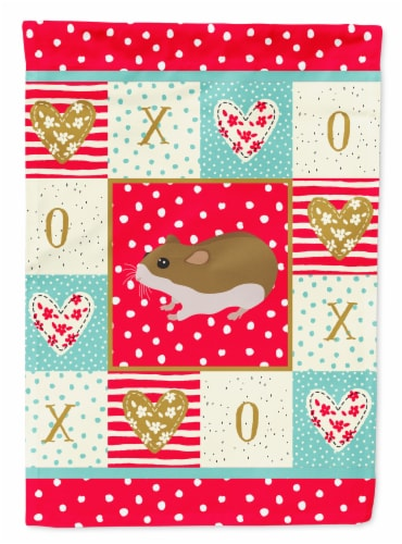 Carolines Treasures  CK5438CHF Chinese Hamster Love Flag Canvas House Size Perspective: front
