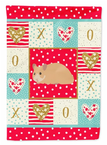 Carolines Treasures  CK5443CHF Syrian Golden Hamster Love Flag Canvas House Size Perspective: front
