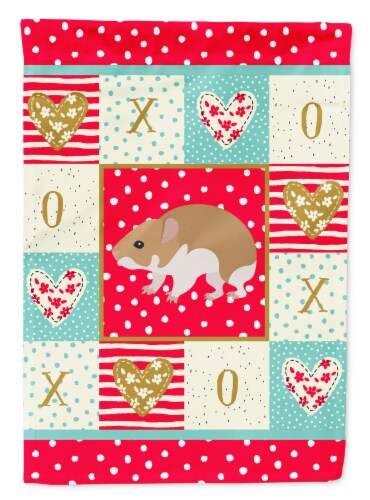 Carolines Treasures  CK5445CHF Turkish Hamster Love Flag Canvas House Size Perspective: front