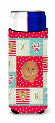 Carolines Treasures  CK5444MUK Teddy Bear Hamster Love Ultra Hugger for slim can Perspective: front
