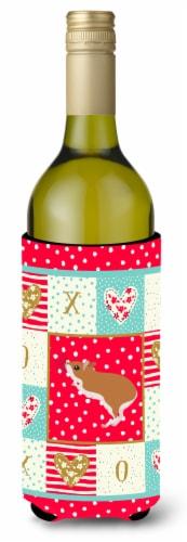 Carolines Treasures  CK5446LITERK White Legged Hamster Love Wine Bottle Hugger Perspective: front