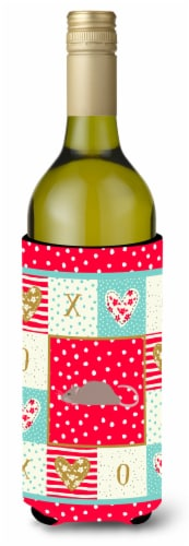 Carolines Treasures  CK5463LITERK Satin Rat Love Wine Bottle Hugger Perspective: front