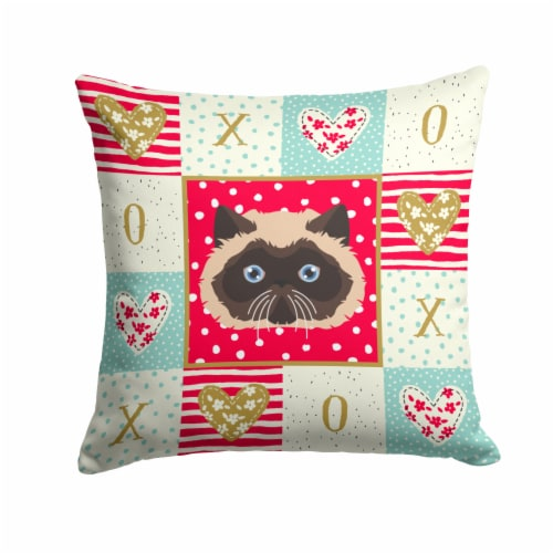Colorpoint Persian Hymalayan Cat Love Fabric Decorative Pillow Perspective: front