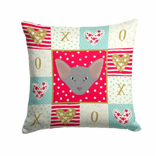 Oriental Shorthair Cat Love Fabric Decorative Pillow Perspective: front