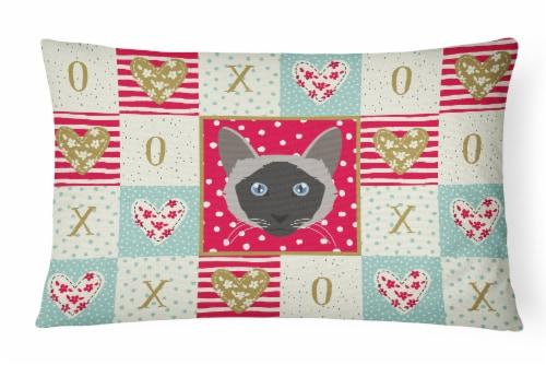 Carolines Treasures  CK5087PW1216 Balinese Cat Love Canvas Fabric Decorative Pil Perspective: front