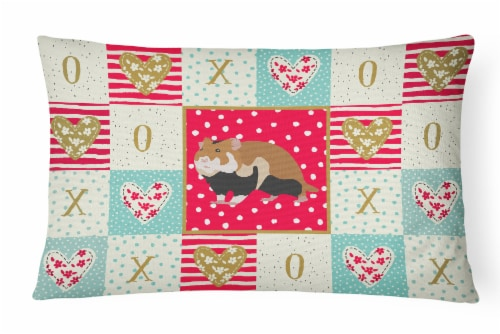 Carolines Treasures  CK5441PW1216 European Hamster Love Canvas Fabric Decorative Perspective: front