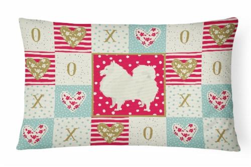 Carolines Treasures  CK5955PW1216 Spitz Love Canvas Fabric Decorative Pillow Perspective: front