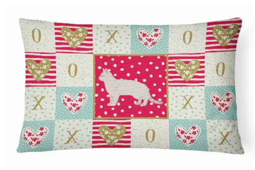 American Shorthair #2 Cat Love Canvas Fabric Decorative Pillow Perspective: front