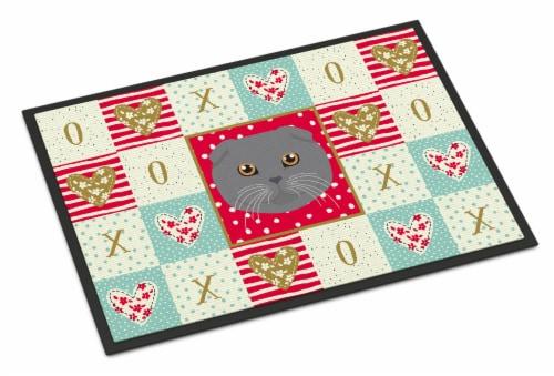 Carolines Treasures  CK5158JMAT Scottish Fold Cat Love Indoor or Outdoor Mat 24x Perspective: front