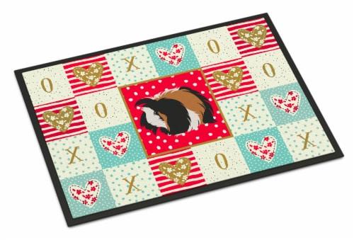 Carolines Treasures  CK5433MAT Sheba Guinea Pig Love Indoor or Outdoor Mat 18x27 Perspective: front