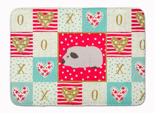 Himalayan Guinea Pig Love Machine Washable Memory Foam Mat Perspective: front